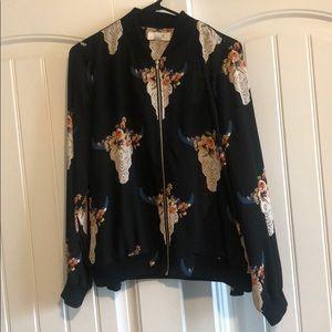 Skull nylon jacket